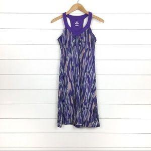 PrAna Purple Printed Shauna Dress